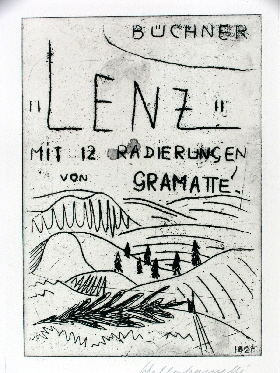 Walter Gramatté: ›Lenz‹, 1924/25Image Series of 13 Etchings on Georg Büchner's Tale ›Lenz‹